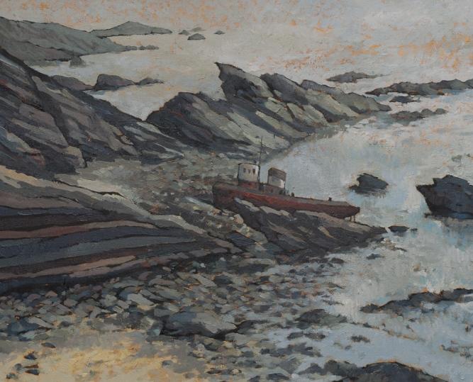 Wrecked Tug at Solva