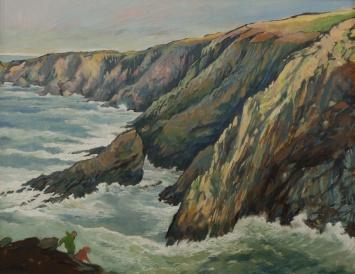 Rough Seas at Pen Clegyr